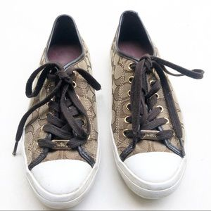 COACH signature EMPIRE low top sneakers shoes 7.5